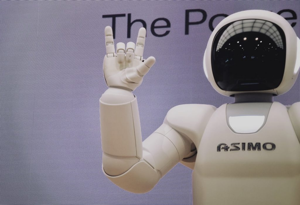 ASIMO, the humanoid robot created by Honda in 2000