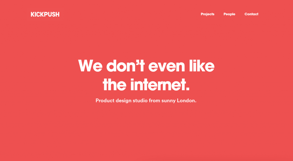 web design trends in 2021 - minimalism flat design