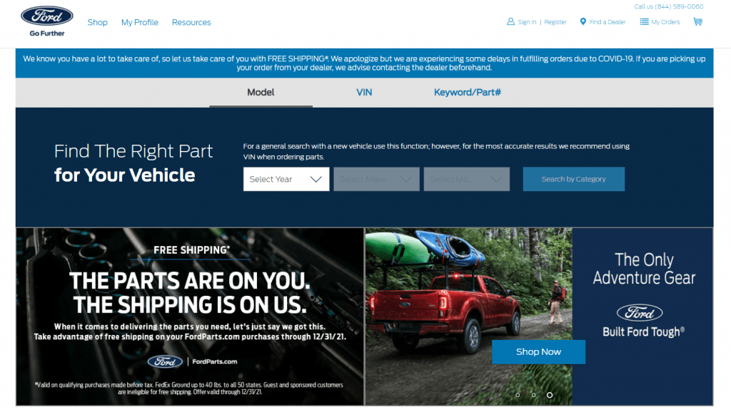 Ford Motor Corp. and its B2B ecommerce model