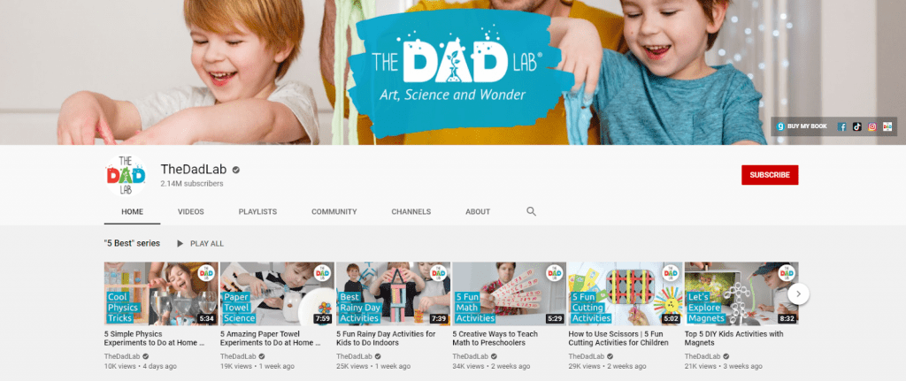 The Dad Lab channel on Youtube is a typical instance for C2B ecommerce framework.