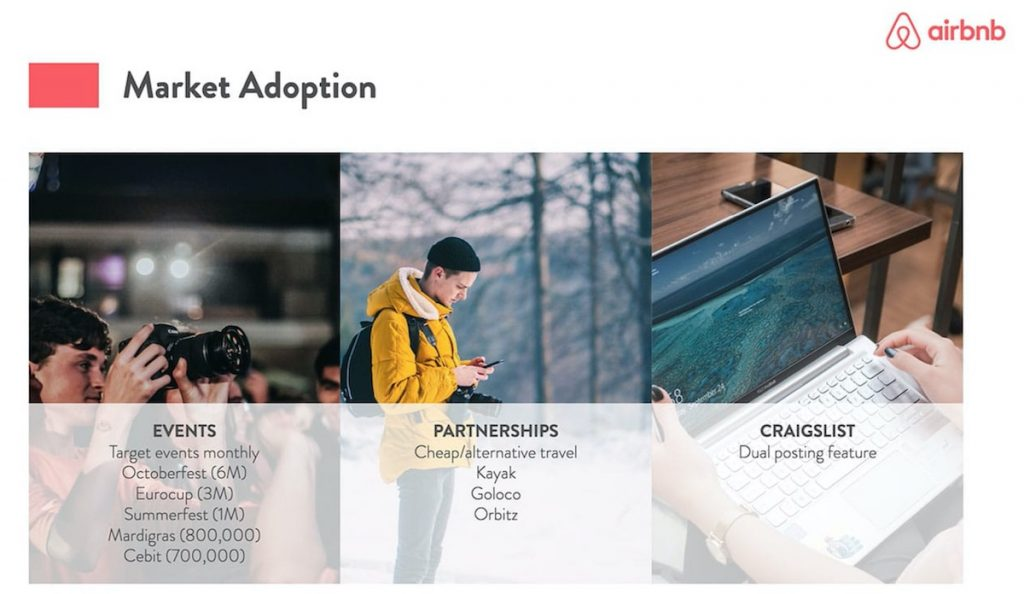go-to-market plan of AirBnB