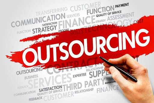 The image depicts relevant factors which might affect outsourcing and offshoring process.