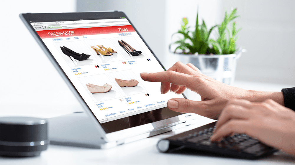Illustrate an eCommerce website design in reality.